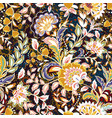 incredible color flower pattern multicolored vector image vector image