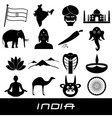 india country theme symbols stickers set eps10 vector image vector image