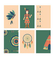 indians icon temple ornament cards element retro vector image