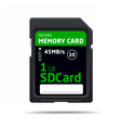 memory sd card for various devices vector image vector image