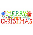 Merry Christmas watercolor text vector image vector image