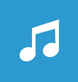 music icon white on the blue background vector image vector image