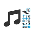 Music Notes Flat Icon With Bonus vector image vector image