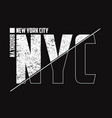 new york t-shirt composed of half with grunge vector image vector image