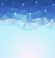 nice blue ice polygonal background vector image vector image