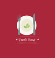 nutritious healthy natural food lifestyle concept vector image