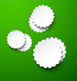 Paper white round flower bubbles vector image