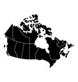 political map of canada vector image