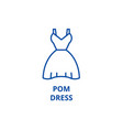 pom dress line icon concept pom dress flat vector image vector image
