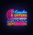 ramadan sale neon sign ramadan kareem web vector image vector image