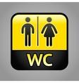 Restroom symbol vector image vector image