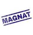 scratched textured magnat stamp seal vector image