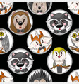 seamless pattern with cute baanimals for kids vector image vector image