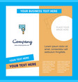 search in smart phone company brochure template vector image vector image