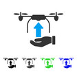 send drone hand flat icon vector image vector image