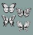 set decorative butterflies vector image vector image