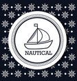 ship boat nautical design isolated vector image vector image