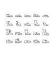 shoes icon collection vector image