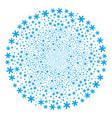 snowflake fireworks sphere vector image vector image