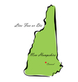 State of New Hampshire vector image