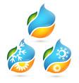 symbols for bio air conditioner vector image