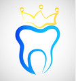 teeth crown dental icon vector image vector image