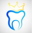 teeth crown dental icon vector image