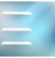 Three White empty shelves vector image vector image