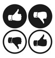 thumb up and down symbols human hand icon vector image vector image