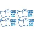 Toilet Paper Icon Set vector image vector image