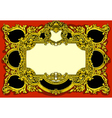 Vintage Gold Baroque Frame on Red Background vector image