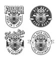 vintage monochrome firefighting emblems set vector image