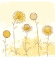 yellow sunflower on watercolor background vector image vector image