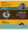 fishing tournament time for big catch colorful vector image