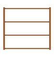 empty wooden storage shelves vector image