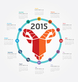 2015 Calendar 2015 Happy new year Calendar vector image vector image