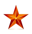 Achievement Star Red Sign Decoration vector image vector image