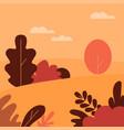 autumn landscape public park fall forest vector image vector image