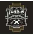 barbershop emblem signage vector image vector image