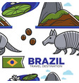 brazil travel destination seamless pattern vector image vector image