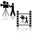 Cameraman vector image vector image