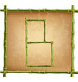 capital letter b made of green bamboo sticks on vector image vector image