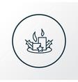 christmas candles icon line symbol premium vector image