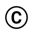 copyright symbol icon logo sign vector image