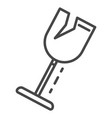 crack wine glass icon outline style vector image