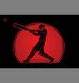cricket player action cartoon sport graphic vector image