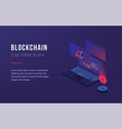 cryptocurrency and blockchain bitcoin mining farm vector image vector image