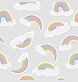 cute rainbow seamless pattern sweet rainbow and vector image vector image