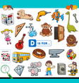d is for educational task for children vector image vector image