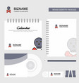 danger logo calendar template cd cover diary and vector image vector image